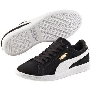 Puma Women's Vikky Low Top SoftFoam Sneaker Suede